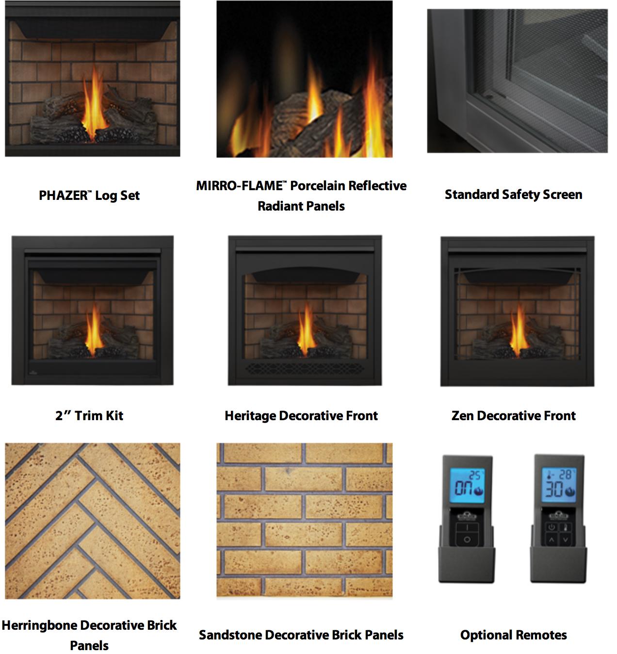 napoleon gas fireplace remote control manual