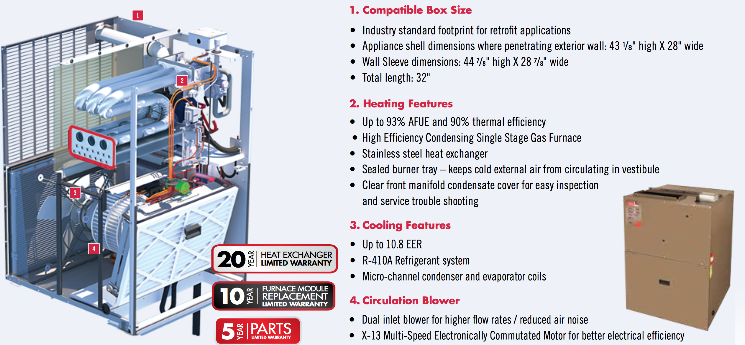 Napoleon Condo Pack Gas Heating and Cooling