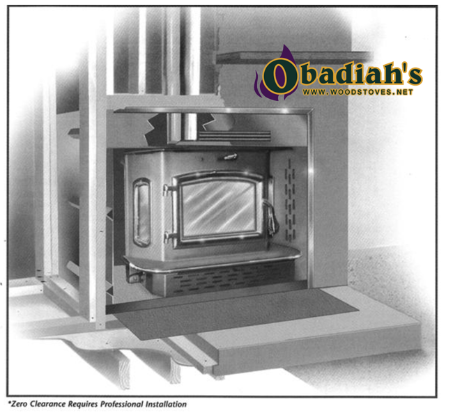 Obadiah's 2500 Catalytic Insert & Fireplace by Obadiah's Woodstoves