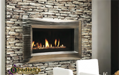 "Majestic Echelon 42"" Contemporary Linear Direct Vent Gas Fireplace"