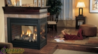 Regency Panorama P131 Three Sided Glass Direct Vent Gas Fireplace