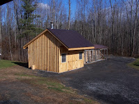 Outdoor Building For Wood Boiler and Fire Wood Storage