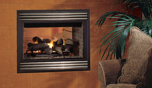 Merit Plus B-Vent See-Through Astria Gas Fireplace