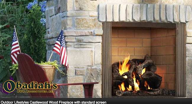 Majestic / Quadrafire Castlewood Outdoor Wood Fireplace