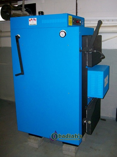 Econoburn 170-200 EPA Qualified Indoor Wood Gasification Boiler - Side