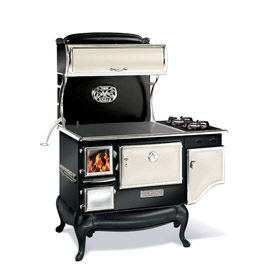 "Elmira Fireview 1842-G 48"" Wood Cookstove Gas Range"