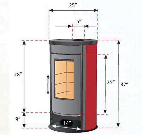 Fajardo Ronda Lenero Wood Burning Stove