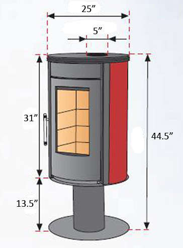 Fajardo Ronda Pie Wood Burning Stove