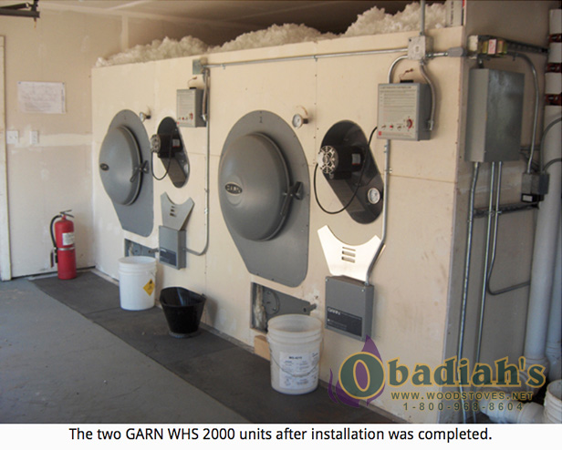 Garn WHS-2000 Residential Wood Gasification Boiler - installation