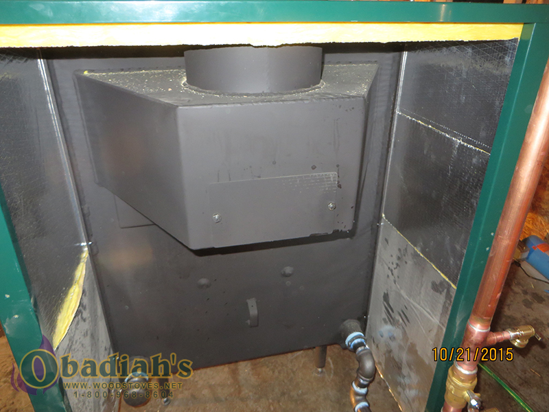 Glenwood Biomass Boiler - Rear Plumbing Hook Up And Rear Heat Exchaner Clean Out Access