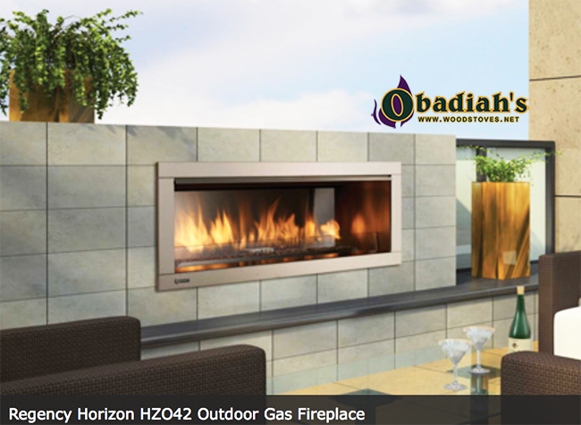 Regency HZO42 Stainless Steel Outdoor Vent Free Gas Fireplace