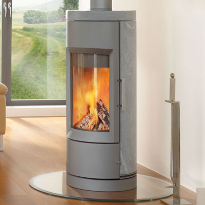Hearthstone Bari 8170 Contemporary Wood Stove In Grey Matte