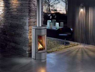 Hearthstone Bari 8180 Contemporary Soapstone Gas Stove In Product Photo