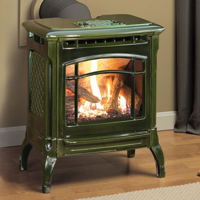 Hearthstone Stowe 8322 Cast Iron Direct Vent Gas Stove In Basil Enamel