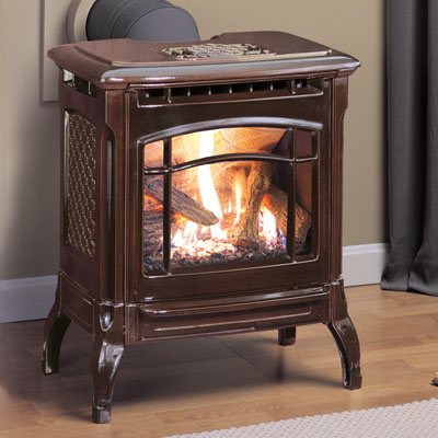 Hearthstone Stowe 8322 Cast Iron Direct Vent Gas Stove In Brown Enamel