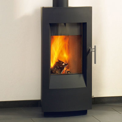 Hearthstone Tula 8190 Contemporary Wood Stove In Charcoal Matte