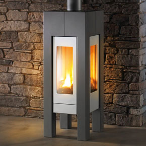 Hearthstone Modena 8140 Contemporary Steel Gas Stove