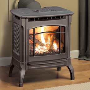 Hearthstone Stowe 8322 Cast Iron Direct Vent Gas Stove In Black Matte