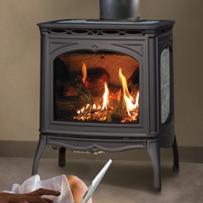 Hearthstone Tucson 8702 In Black Matte and Gray Soapstone