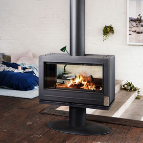 Invicta Nelson See-Thru Woodstove