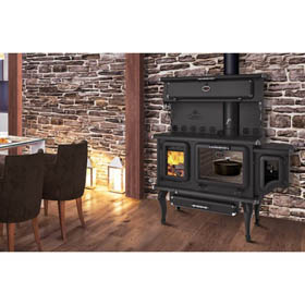 J.A. Roby Cicero Wood Cook Stove w/ Side Water Reservoir