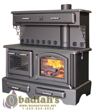 J A Roby Cuisiniere Wood Cookstove Back Of Stove