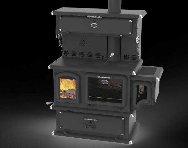 J.A Roby Chief Wood Cook Stove w/Side Water Reservoir