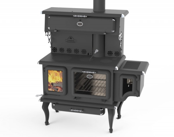 JA Roby Cicero Wood Cook Stove w Side Water Reservoir