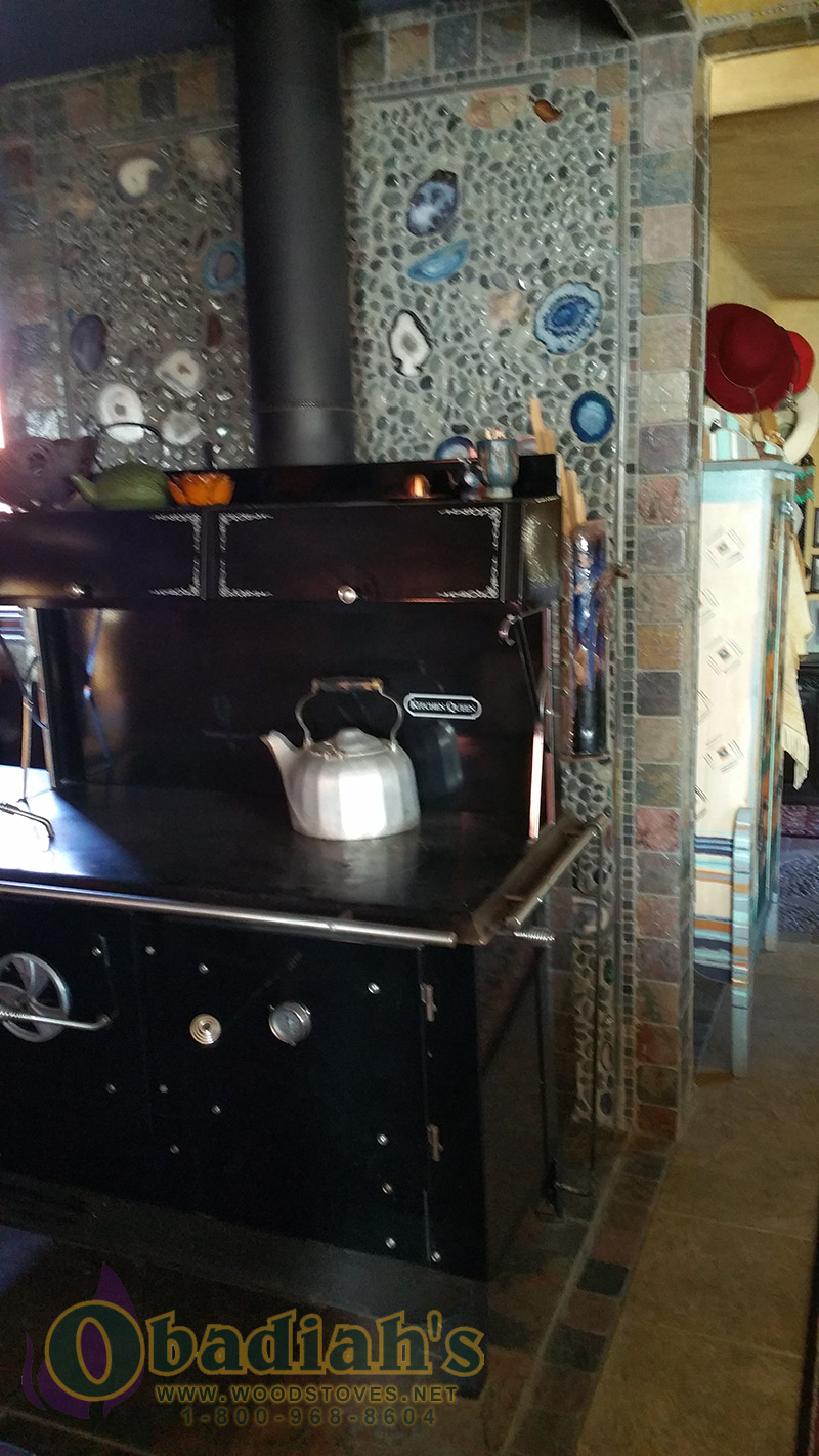 Kitchen Queen Wood Cookstove - Betsi Installation