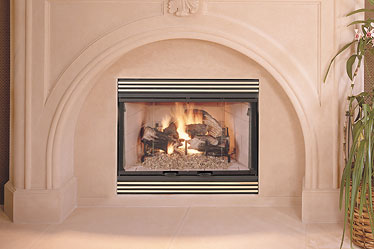 "HC 42"" Lennox Wood Burning Fireplace"