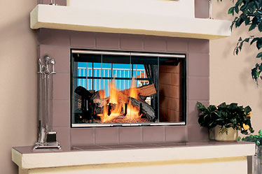 Magna-Fire™ See-Through Lennox Wood Burning Fireplace