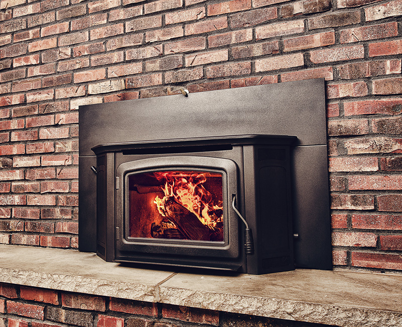 The IronStrike Montlake 230/300 Wood Insert converts any fireplace to an efficient