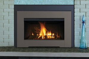 The IronStrike Ravenna / Superior Direct Vent Gas Fireplace Insert offers the convenience of gas