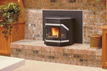 IronStrike Winslow™ Pellet Fireplace Insert by Obadiah s