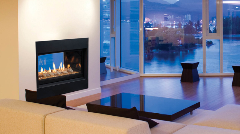 Majestic Echelon See-Thru Direct Vent Gas Fireplace