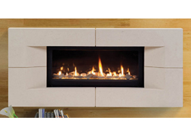 "Majestic Echelon 60"" Contemporary Linear Direct Vent Gas Fireplace"