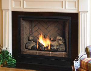 "Majestic Solitaire 36"" Direct Vent Fireplace System"