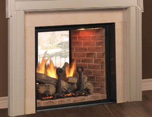 Majestic Marquis See-Thru Direct Vent Gas Fireplace