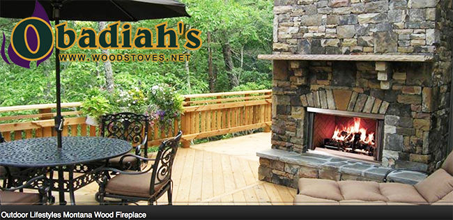 Majestic / Quadrafire Montana Outdoor Wood Fireplace by Obadiah's ...