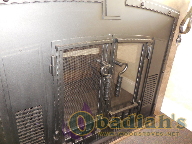 Obadiah's Fireplace Conversion Cookstove - blacksmith