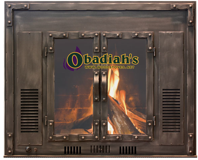 Obadiah's Fireplace Conversion Cookstove - bronze