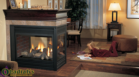 Regency Panorama P131 Three Sided Glass Direct Vent Gas Fireplace - Discontinued