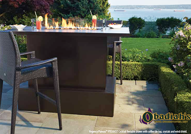 Regency Plateau PTO Outdoor Gas Burner Linear Fireplace