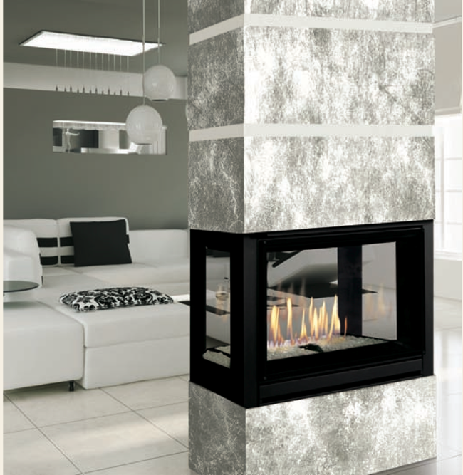 J.A. Roby PAMPERO Direct Vent Fireplace