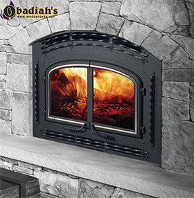 The Quadrafire 7100 Zero Clearance High Efficiency EPA Wood Fireplace offers high BTU output (92