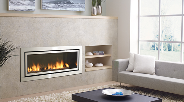 The Regency Horizon HZ54E Gas Fireplace is the largest contemporary gas fireplace