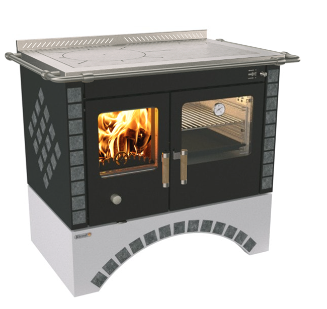 Rizzoli S90 Round Arch Wood Cook Stove