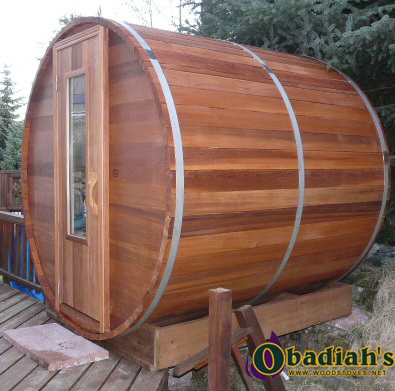 Northern Lights Outdoor Cedar Barrel Sauna