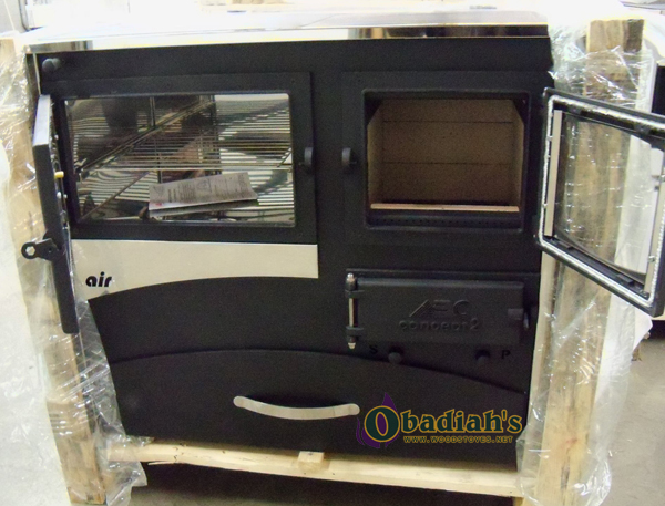 ABC Products Concept 2 Air Wood Cookstove - oven and firebox doors open