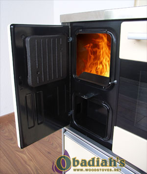 MBS Royal 720 Wood Cookstove - firebox